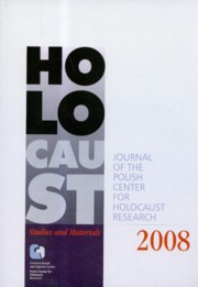 Holocaust studies and materials 2008,