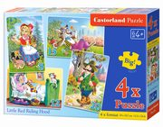 4x1 Puzzle Little Red Riding Hood,