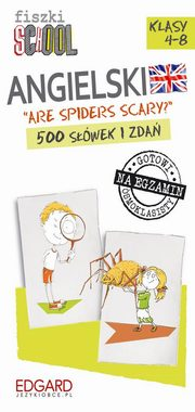 Fiszki SCHOOL Are spiders scary? 500 słówek i zdań,